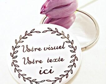 Personalized 7.5 cm mirror