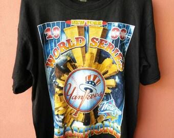 Vintage Yankees World Series Champions T Shirt Rare