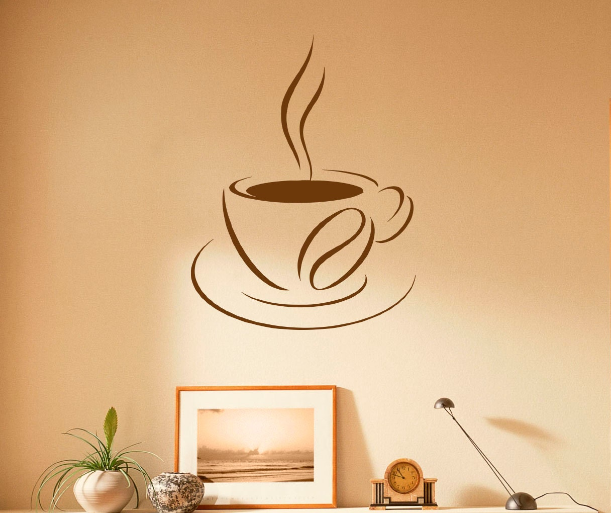 Coffee Cup Wall Decal Coffee House Vinyl Stickers Cafe