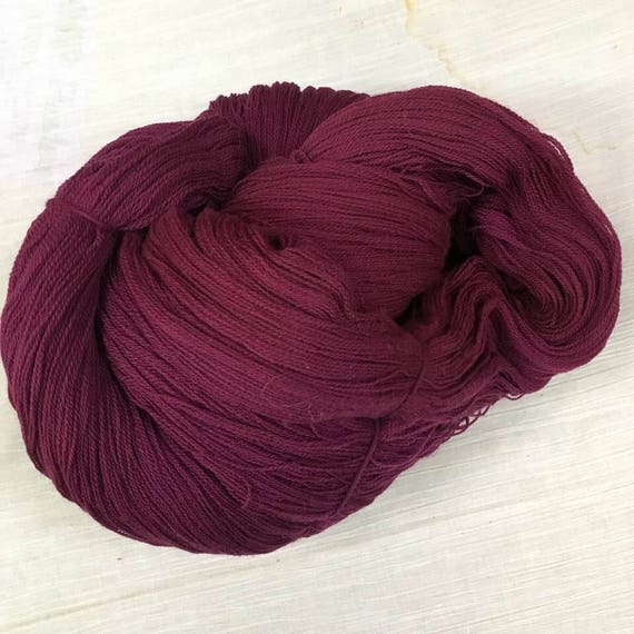 Merlot Lace Weight Yarn by Etsy
