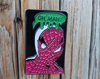 OH, MAN! Spiderman soft enamel pin