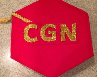 Canine Good Neighbor CGN Hexagon Tam / Graduation Cap