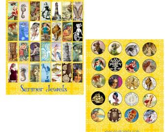Sunny Summer Jewelery Digital Collage Set