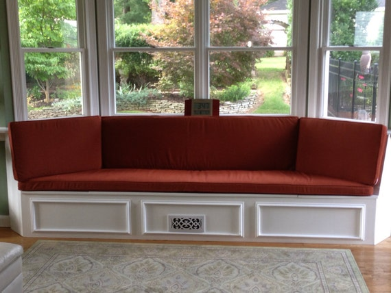 Bay Window Bench : Custom bay window seat cushion trapezoid with