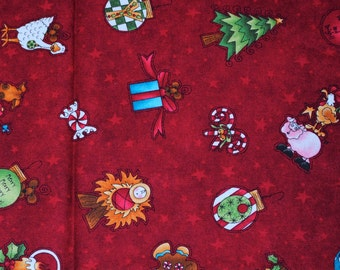 Fat Quarter Whimsical Cute Christmas Fabric