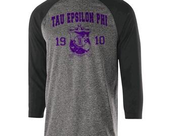 Tau Epsilon Phi Typhoon Raglan (purple text)