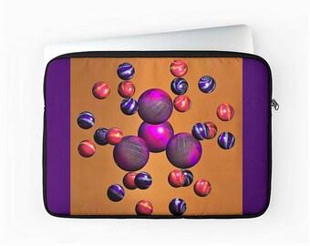 "Zipped Laptop Cover, Fractal Laptop Sleeve, Macbook Air / Pro / Retina 12"", 13"" & 15"" Laptop Sleeve, Padded Laptop Bag, Device Case"