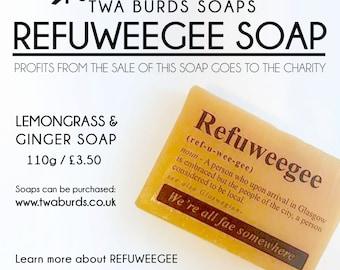 Refuweegee Charity Soap Slice Lemongrass & Ginger Handmade Soap