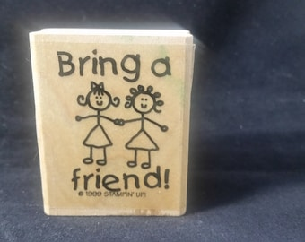 Bring a friend Rubber stamp Used