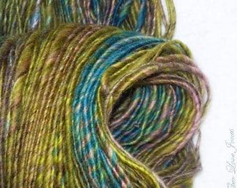 TOPS, handgesponnene Luxusgarn - 154 Yards - dick und dünn - stricken - häkeln - weben - Mixed-Media - Faser Kunst - Textilkunst