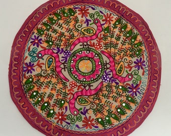 Rajasthani Wall Decorative ,Designer Embroidered,Wall Hanging, Wall Decore , Tapestry, Round, Square