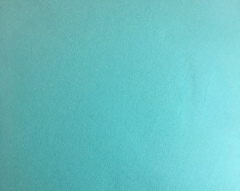 Mint Aqua Double Brushed Poly fabric by the yard