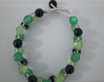 Green ombre bracelet