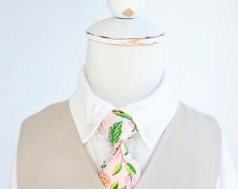 Necktie, Neckties, Boys Tie, Baby Tie, Baby Necktie, Wedding Ties, Ring Bearer, Boys Necktie, Ties, Rifle Paper Co - Jardin De Paris Peony