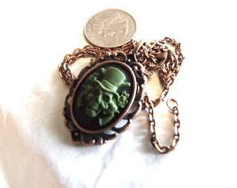 Steam punk Gothic Guns and Roses Pendent In Copper