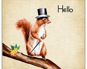 Double'M squirrel' original design handmade 15cm x 15cm
