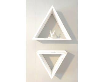 White Triangle Shelves (Set of 2)