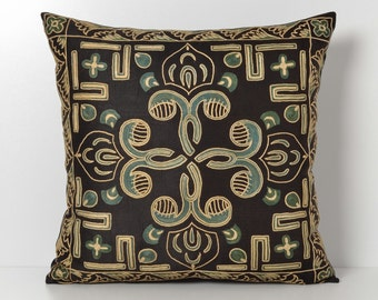Suzani pillow suzani pillow cover black suzani pillow suzani pillows designer pillow black pillow throw pillows sofa pillows pillow sham
