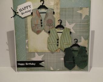 Waistcoat Birthday card