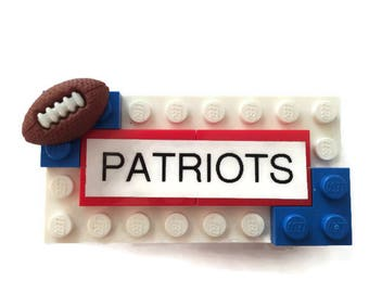 Patriots LEGO Name Tag