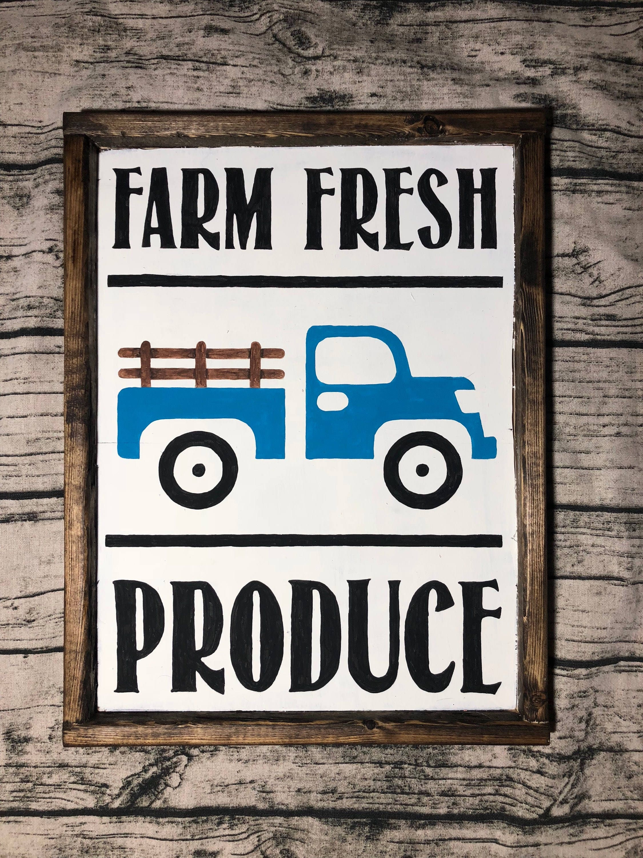 Farm Fresh Produce, Farmhouse, Rustic, Kitchen Sign, Dining Room,  Housewarming, Gift Ideas, Chrismtas, Mothers Day, Home Decor, Farm