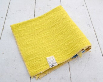 1970s Yellow Woven Fabric Sample