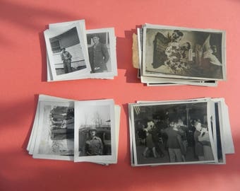 Lot Of 50 Vintage Black White Snapshots Photographs: Portraits People Land City 1930s - 1950s - #20