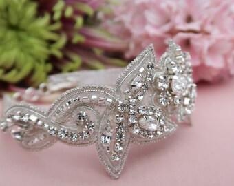 Swarovski bracelet, wedding bracelet, bridal bracelet, beaded bracelet, wedding jewellery, Crystal bracelet, wedding accessory
