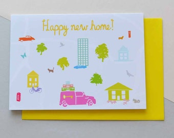 Happy New Home - Greeting Card (Free UK delivery)