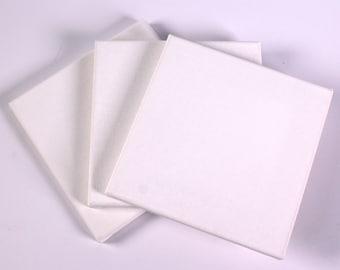 Square Mini Canvases 15cm x 15cm White High Quality Art Canvases Choose Quantity