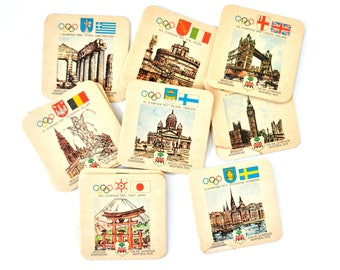 Vintage Olympic Beer Mats, Montreal 1976, Paper Coasters