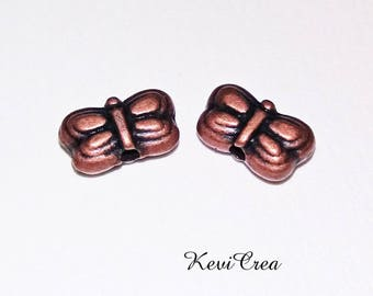 26 x Butterfly copper metal beads