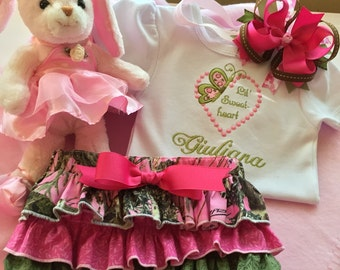 Bring Home Outfit Girl, Pink Camo Baby Gift, Baby Girl Camo Outfit, Personalized Camo Outfit for girl, Personalized Baby Gifts, Baby Gift