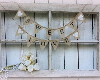 Mini Sweet Love banner,cake topper