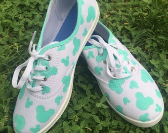 Mint Mickey head shoes
