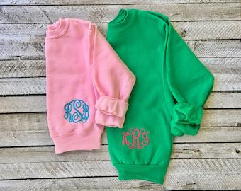 Monogrammed Sweatshirt - Monogram Sweatshirt - Monogram Pullover - Monogram sweater - Mother Daughter Sweatshirts