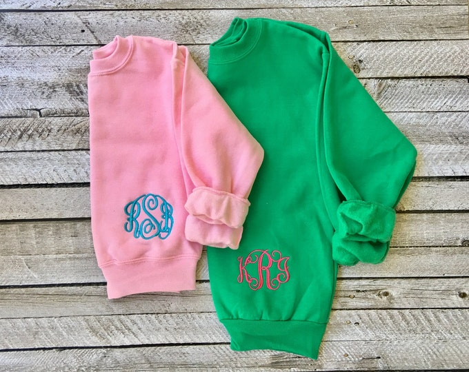 Monogrammed Sweatshirt, Monogram Sweatshirt,  Monogram Pullover, Monogrammed Sweater, Monogrammed Gifts, Christmas Gifts Under 20