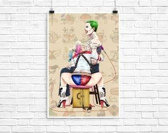 "Harley Quinn the Tattooist 13x19"" Art Print"