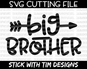 Big Brother SVG and PNG, Brother Svg, Big Bro Svg, Boy Svg, Svg Files For Silhouette, Svg Files for Cricut, Big Brother Little Brother Svg