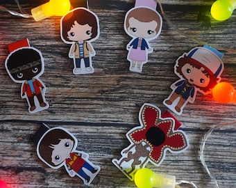 Magnetic bookmarks - Stranger Things, Eleven, Demogorgon