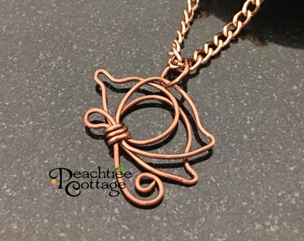Wire Wrapped Pendant - Wire Butterfly Pendant - Butterfly Pendant - Wire Pendant - Copper Butterfly- Ready to Ship