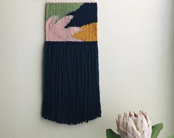 handmade woven wall hanging // fleur