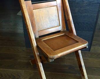 Vintage CHILDu0027S FOLDING CHAIR, Sunday School Chair, Childu0027s School Folding  Wood Chair, Antique Wood Folding Chair, Childu0027s Room Decor