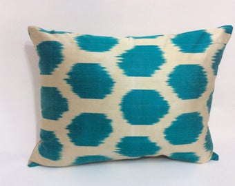 "Handmade ikat pillow cover 16""x22"" Fast Free Shipping with FEDEX 1-3 days"