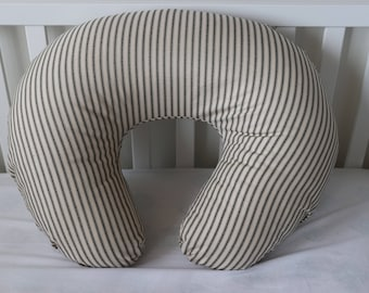 Striped Ticking Boppy Cover With Personalization Option