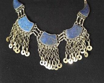 Afghan kuchi lapis lazuli NECKLACE