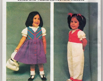 Vintage Sewing Pattern for Children's Romper and Dress Sizes 2, 3, 4, 5 ,6 Susie's Kids #346
