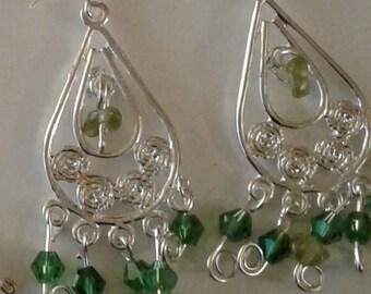 1 pair 925 silver plated crystal earrings buy 2 get 1 free