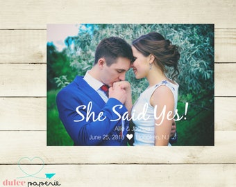 She Said Yes! Save the Date Invitations - Bridal Announcement
