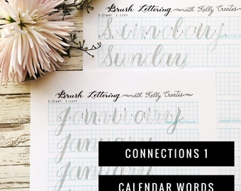 Connections 1: Calendar Words for Large Brush Pens